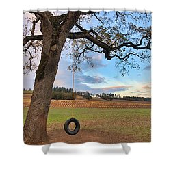 Swing In Tree Shower Curtain