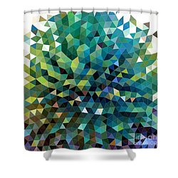 Synchronicity Of Color Shower Curtain