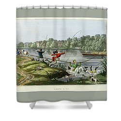 Taking A Fly Shower Curtain