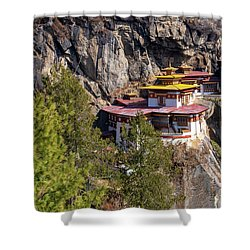 Taktsang Monastery  Shower Curtain