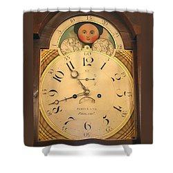 Tall Case Clock Face, Around 1816 Shower Curtain