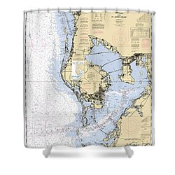 Tampa Bay And St. Joseph Sound Noaa Chart 11412 Shower Curtain