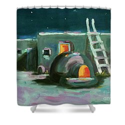 Taos At Night Shower Curtain