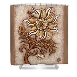 Tapestry Flower 1 Shower Curtain