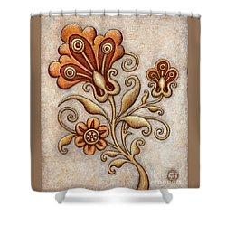 Tapestry Flower 3 Shower Curtain