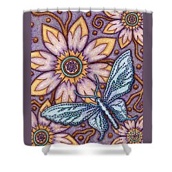 Tapestry Butterfly Shower Curtain