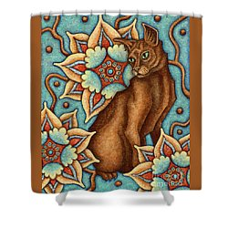 Tapestry Cat Shower Curtain