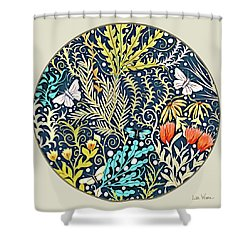 Tapestry Design Button Shower Curtain