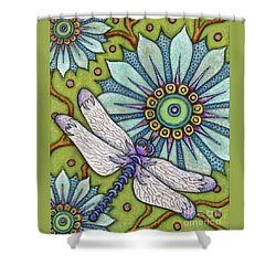 Tapestry Dragonfly Shower Curtain