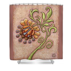 Tapestry Flower 10 Shower Curtain