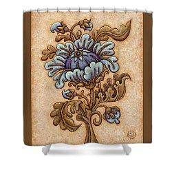 Tapestry Flower 5 Shower Curtain