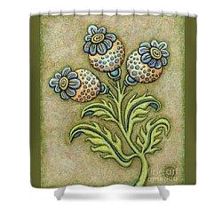 Tapestry Flower 6 Shower Curtain