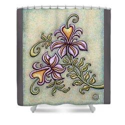 Tapestry Flower 8 Shower Curtain