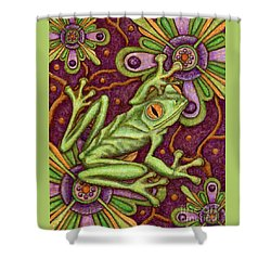 Tapestry Frog Shower Curtain