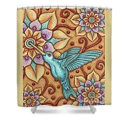 Tapestry Hummingbird Shower Curtain