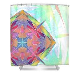 Techno Fantasy Shower Curtain