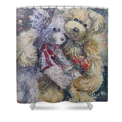 Teddy Bear Honeymooon Shower Curtain
