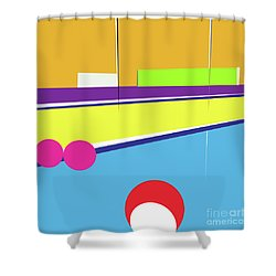 Tennis In Abstraction Shower Curtain