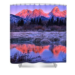 Teton Panorama T-shirt Shower Curtain