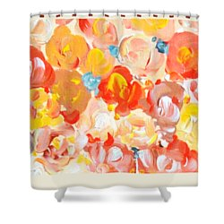 Shower Curtain featuring the painting Thank You #2 by Maria Langgle