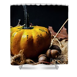 Thanksgiving Dinner Invitation Card. Shower Curtain