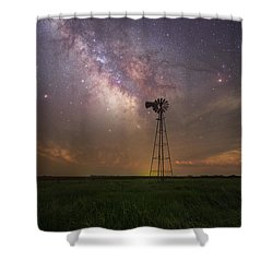 Shower Curtain featuring the photograph That's My Kind Of Night  by Aaron J Groen