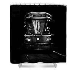 The 505 Dundas Streetcar Toronto Canada Shower Curtain