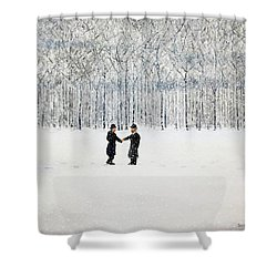 The Agreement Shower Curtain