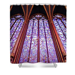 The Awe Of Sainte Chappelle Shower Curtain