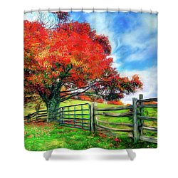 The Beauty Of A Blue Ridge Autumnl Ap Shower Curtain