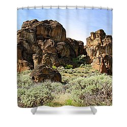 Arches Hoodoos And Castles The Big Picture Little City Of Rocks Shower Curtain