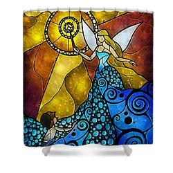 The Blue Fairy Shower Curtain