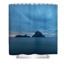 The Blue Hour In Es Vedra, Ibiza Shower Curtain