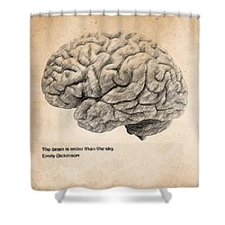 The Brain Is Wider Than The Sky Shower Curtain