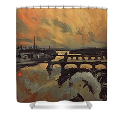 The Bridges Of Maastricht Shower Curtain