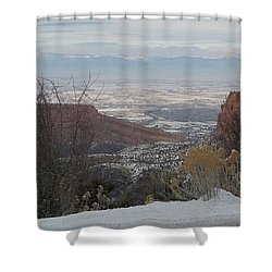 The City Below Shower Curtain