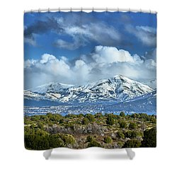 The City Of Bariloche Surrounded By Mountains Shower Curtain