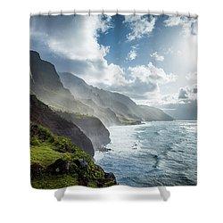 The Cliffs Of Kalalau Shower Curtain