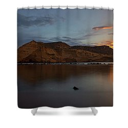 The Closed Cove In Aguilas At Sunset, Murcia Shower Curtain