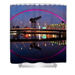 Shower Curtain featuring the photograph The Clyde Arc Reflected by Stephen Taylor