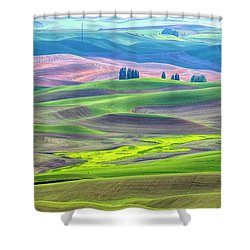 The Color Palette Of The Palouse Shower Curtain