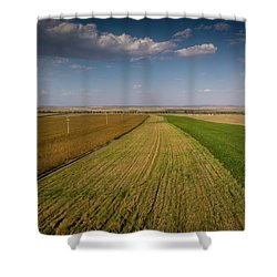 Shower Curtain featuring the photograph The Colored Fields by Okan YILMAZ