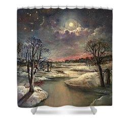 The Constellation Orion Shower Curtain