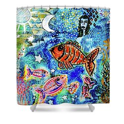 The Day The Stars Fell Into The Ocean Shower Curtain