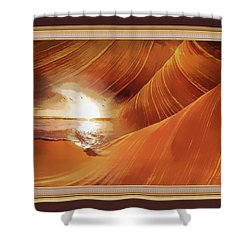 The Desert And The Tide Fantasy Shower Curtain