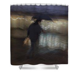Shower Curtain featuring the photograph The End Of A Long Day by Alex Lapidus