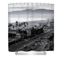 The Evening Drive Home Shower Curtain
