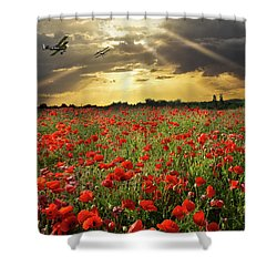 Shower Curtain featuring the photograph The Final Sortie Wwi Version by Gary Eason