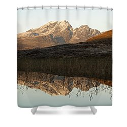 Shower Curtain featuring the photograph The First Hint Of Winter At Loch Cill Chriosd by Stephen Taylor