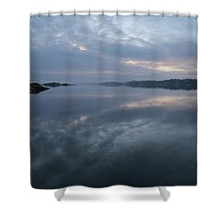 The Fog Lightens Shower Curtain